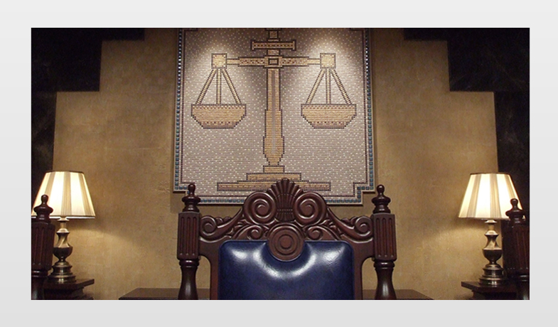 The chief judge's seat
